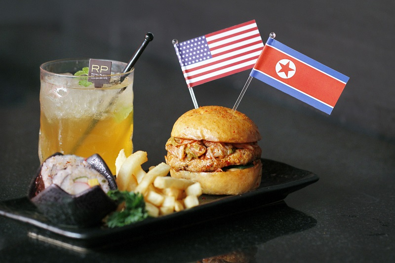Trump-Kim Burger and Summit Iced Tea, Royal Plaza on Scotts Singapore.jpg