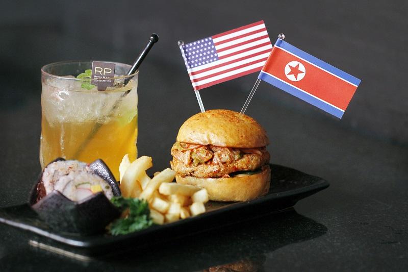Trump-Kim Burger and Summit Iced Tea, Royal Plaza on Scotts Singapore.jpg