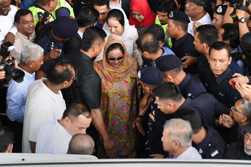 20180704 rosmah daughter son leaves afp.jpg