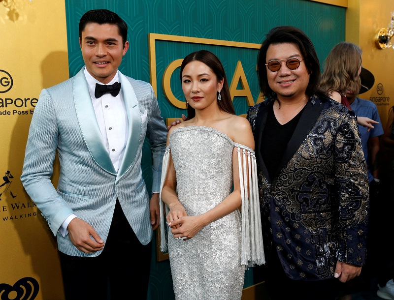 Henry Golding, Constance Wu and Kevin Kwan