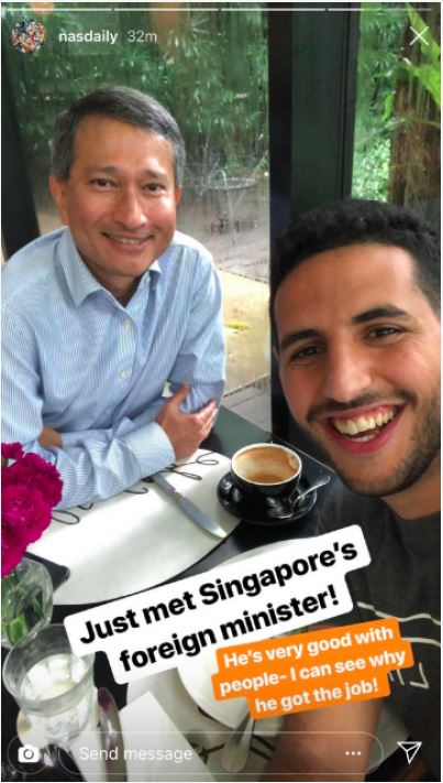Nas Daily with singapore Minister of Foreign Affairs.JPG