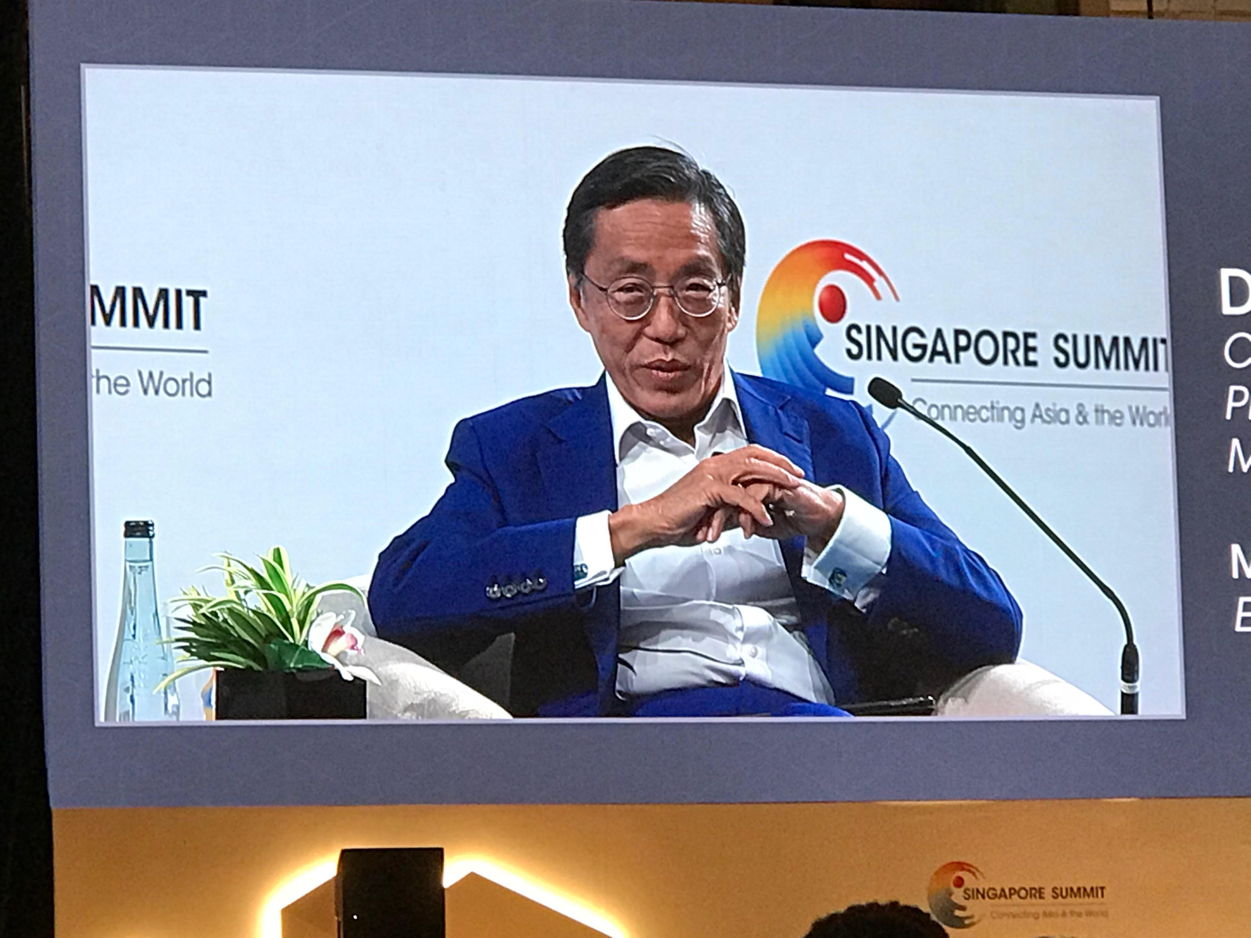 何光平在新加坡峰会