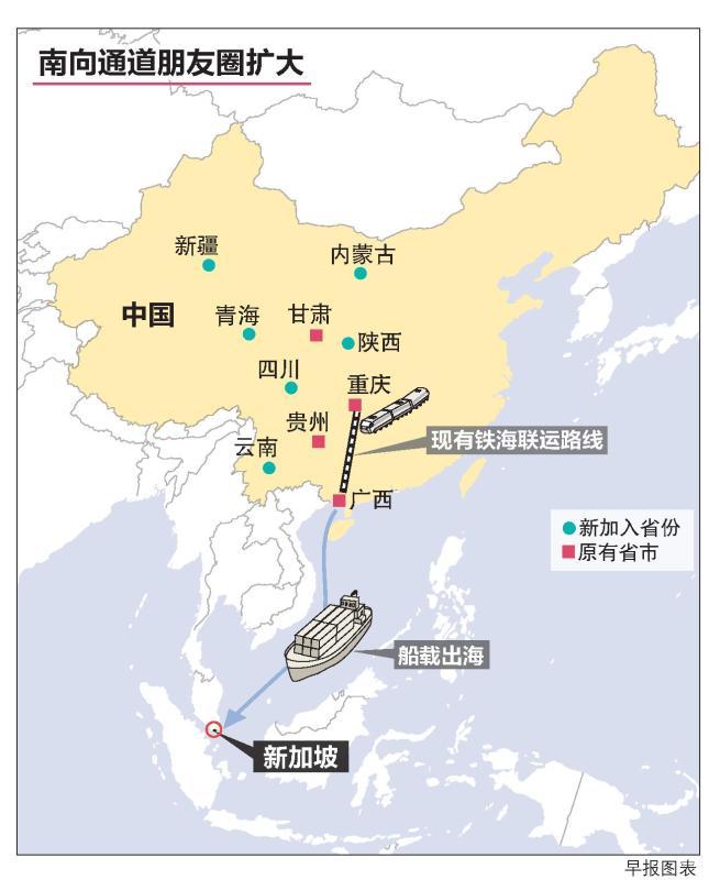 """中新(重庆)战略性互联互通示范项目旗下的""""南向通道"""",正式更名为""""国际陆海贸易新通道"""""""