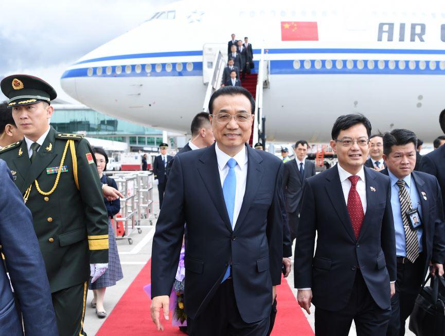 20181112_hengchangi.JPG新加坡总理李显龙在总统府会见到访的中国国务院总理李克强