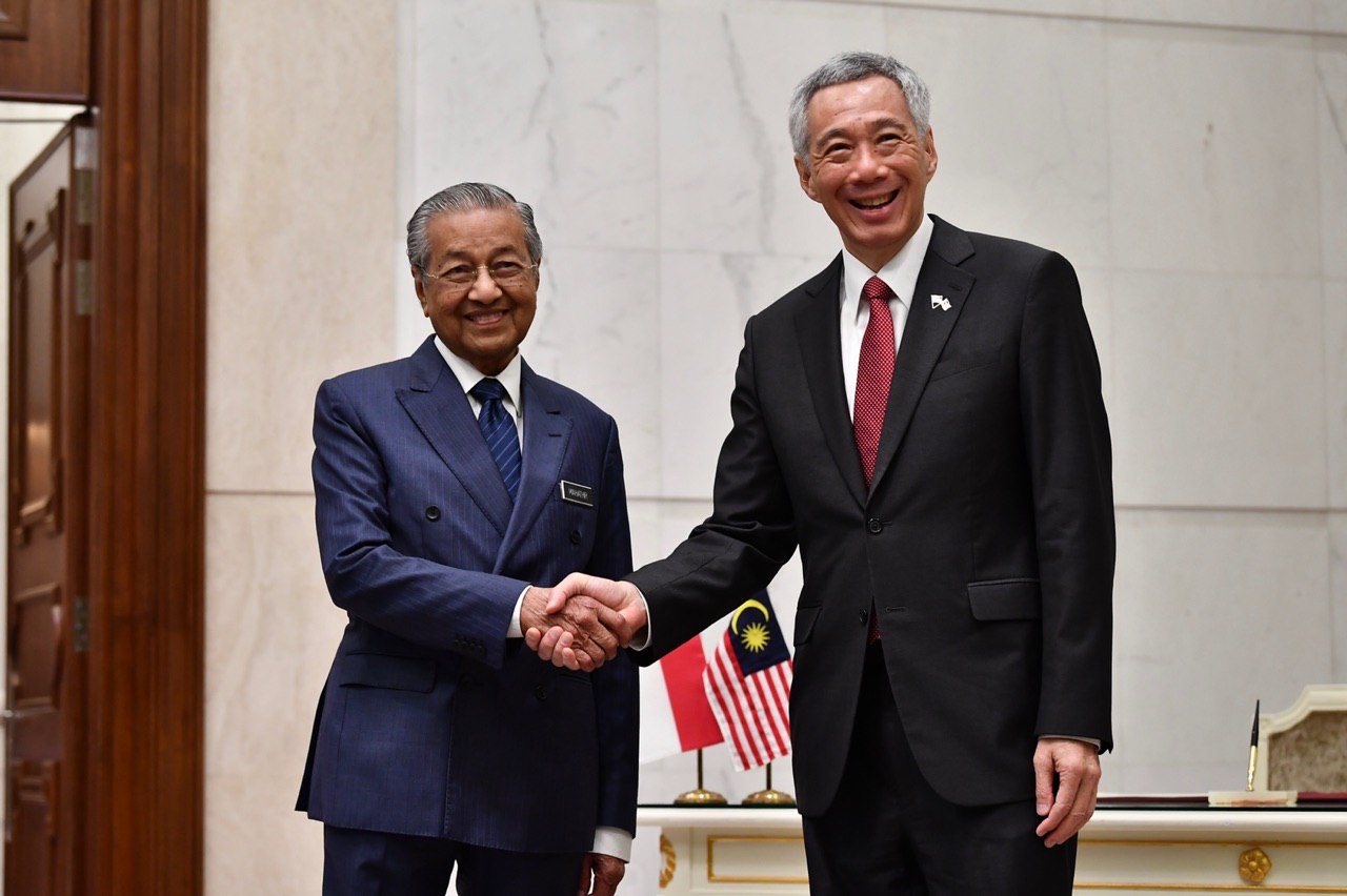 A meeting between Prime Minister Lee Hsien Loong and his Malaysian counterpart Mahathir Mohamad is taking place at the Prime Minister's Office at the Perdana Putra Building in Putrajaya ST2.jpg