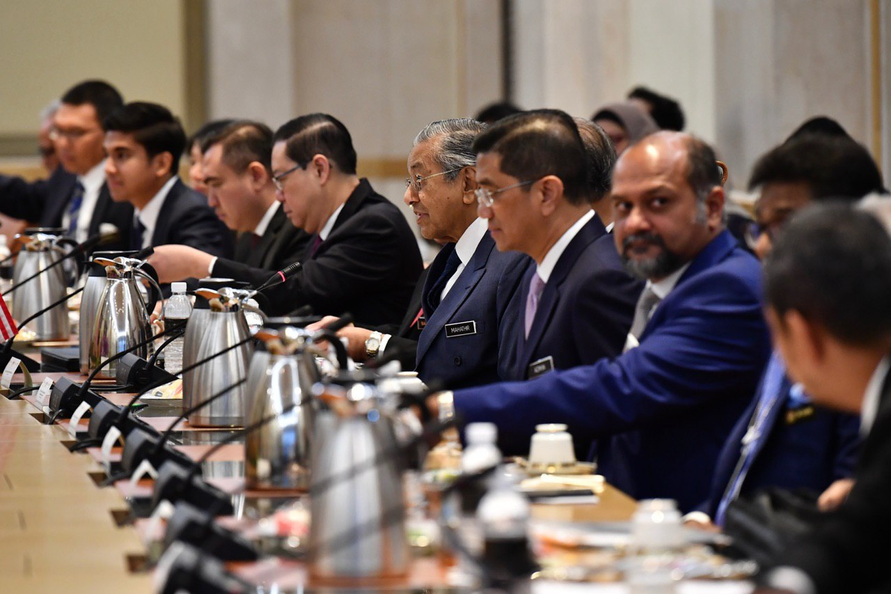 Malaysian Prime Minister Mahathir Mohamad and the Malaysian delegation ST..jpg