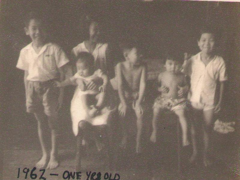 The six of us, I am the youngest, 1962.JPG