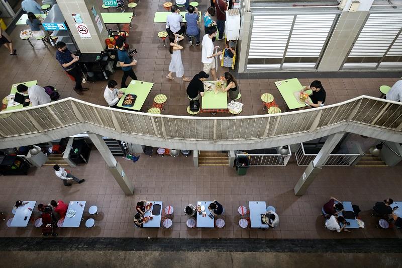 小贩中心和咖啡店两人聚餐规定