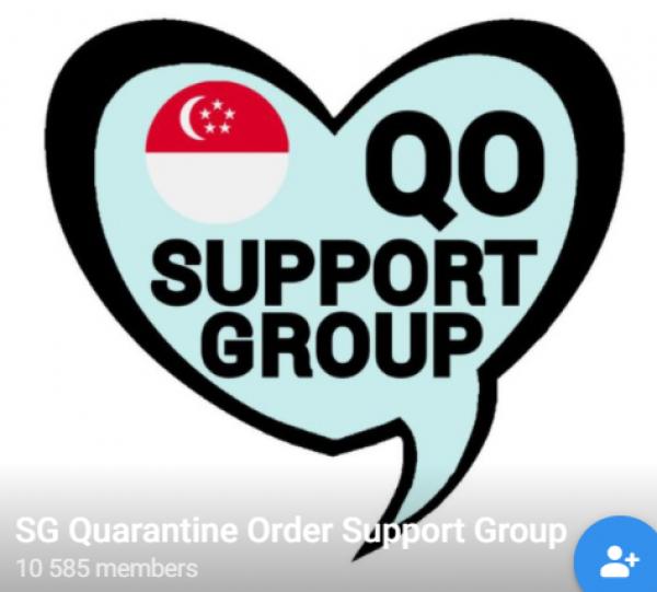 SG Quarantine Order Support Group Telegram群