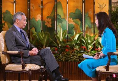 新加坡总理李显龙本周末出访美国,行前接受美国CNBC专访。