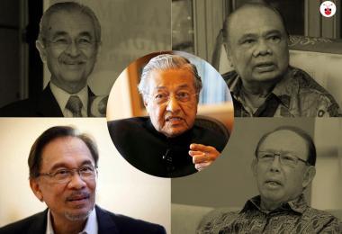Mahathir and Anwar