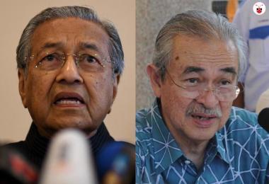 Mahathir and Abdullah Badawi