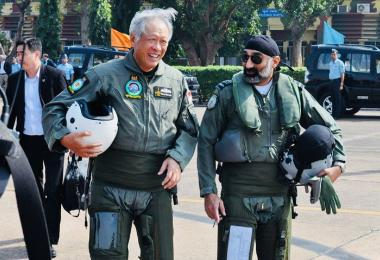 Minister Ng Eng Hen visiting India