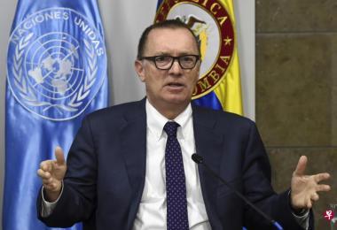 费尔特曼是七年来首位访朝的联合国高层官员。(法新社)