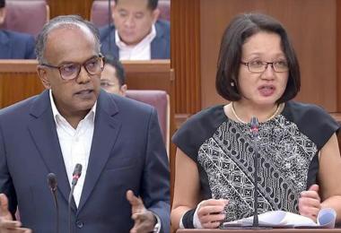 K Shanmugan and Sylvia Lim