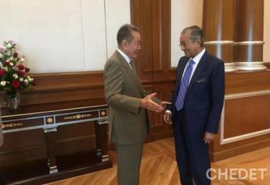 马来西亚首富郭鹤年会见马哈迪