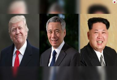 特朗普、李显龙、金正恩