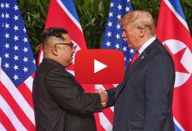 特朗普与金正恩会面