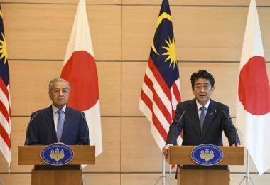 Mahathir in Japan
