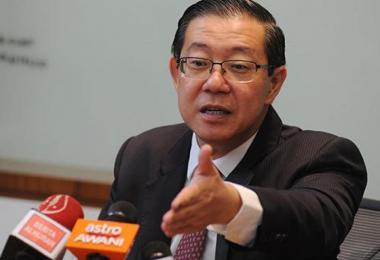 马来西亚财政部长、前槟城首席部长林冠英。