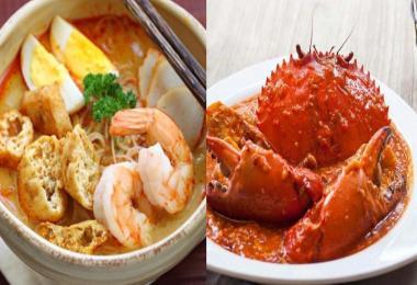马来西亚咖喱叻沙,新加坡辣椒螃蟹,
