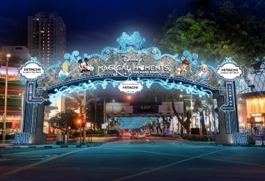 新加坡乌节路迪士尼圣诞灯饰