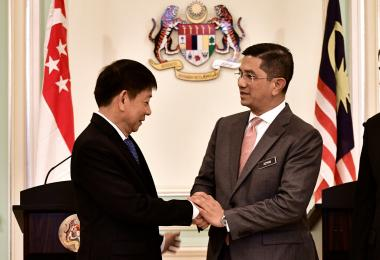 Khaw Boon Wan and Azmin Ali Handshake