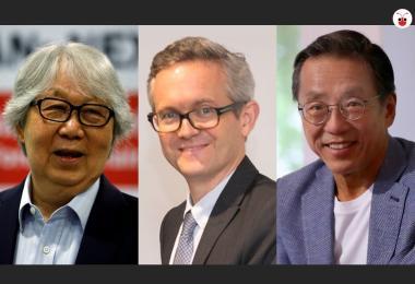 巡回大使许通美,新加坡国立大学法学院院长陈西文教授,悦榕控股执行主席何光平