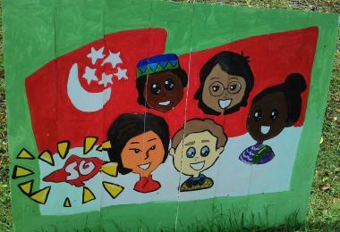 Racial Harmony wall mural at Ang Mo Kio