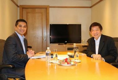 Khaw Boon Wan meeting Azmin in August 2018