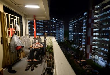 elderly living in rental flat - the face of poverty in Singapore