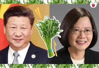 习近平(左)与蔡英文