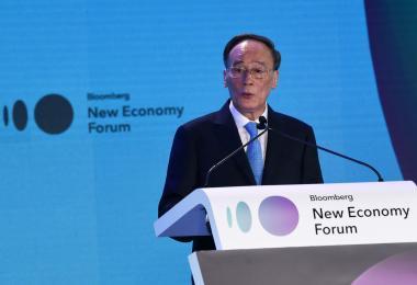 中国国家副主席王岐山在新加坡举行的首届彭博创新经济论坛上向美国喊话,中国愿意和美国展开磋商,解决中美贸易战