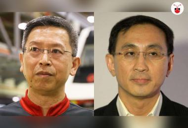 都是三军总长,梁建鸿(左)今年8月1日正式取代郭木财(右),担任SMRT总裁兼首席执行长。