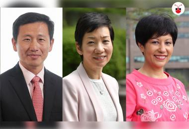 (左起):王乙康、傅海燕、英兰妮。