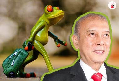 马国政治青蛙乱窜,马六甲州前首席部长阿都拉欣高调宣布脱离巫统,申请加入由马哈迪领导的土团党,引起大震荡。(郭跃男制图)