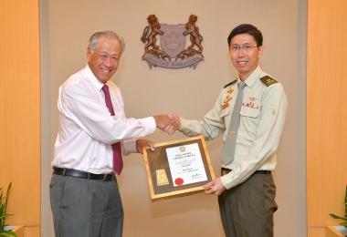 40岁的陆军总长吴仕豪准将2019年1月1日起擢升为少将。