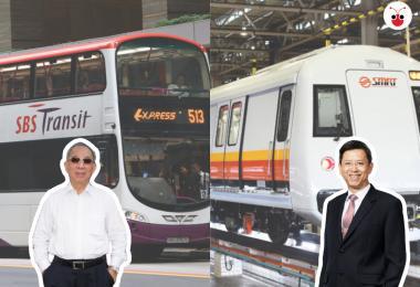 左为新捷运主席林日波,右为SMRT总裁梁建鸿。