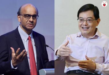 财政部长王瑞杰被(右)视为是下任总理接班人,但有民调显示副总理尚达曼(左)更获民众推崇。