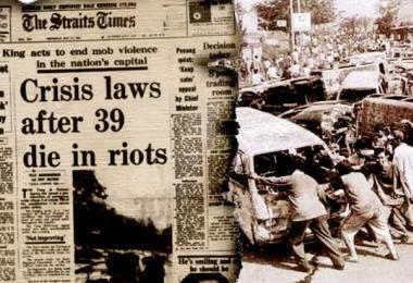 513事件50周年 达因:大马人未汲取教训