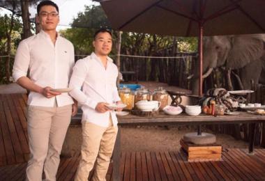 李桓武和王毅睿南非结婚