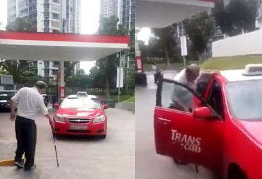 拄着拐杖的老司机