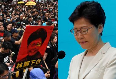 不下台!林郑月娥向港人道歉 停止但不撤回修例