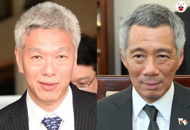 李光耀次子李显扬(左)高调支持反对党,和哥哥李显龙(右)彻底决裂。