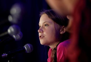Greta Thunberg climate activist deliver speech 2019