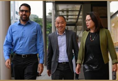 工人党秘书长毕丹星、前秘书长刘程强和主席林瑞莲