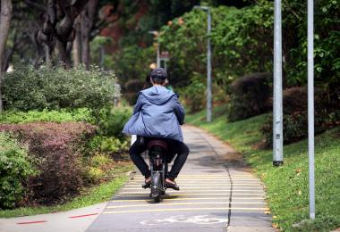pmd on cycling path