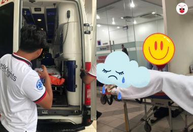 马国癌妇被迫躺担架到公积金局申请领血汗钱 网民怒:不该为难钱的主人!
