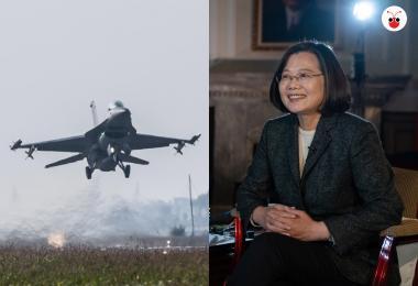 蔡英文称北京侵台将付出代价 台F-16V战机敏感时机公开演练