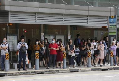 新加坡市中心巴士车站